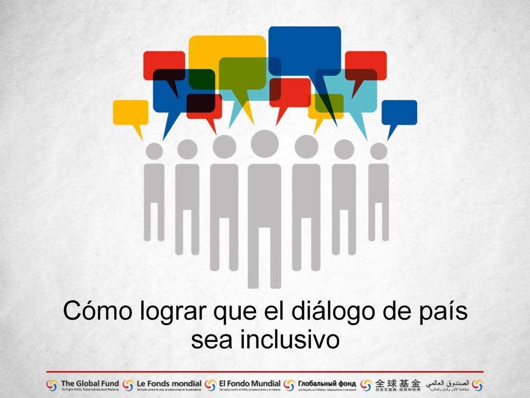 Cómo lograr que el diálogo de país sea inclusivo