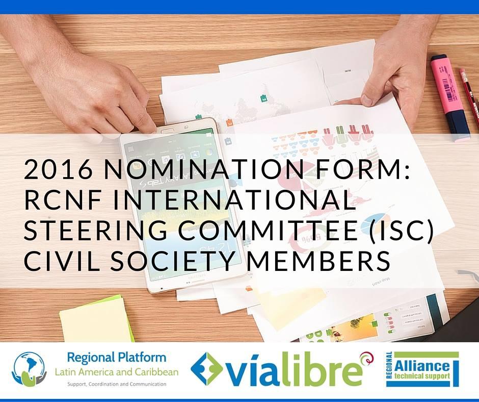 Convocatoria a nominaciones al Comité Directivo Internacional de Robert Carr Fund