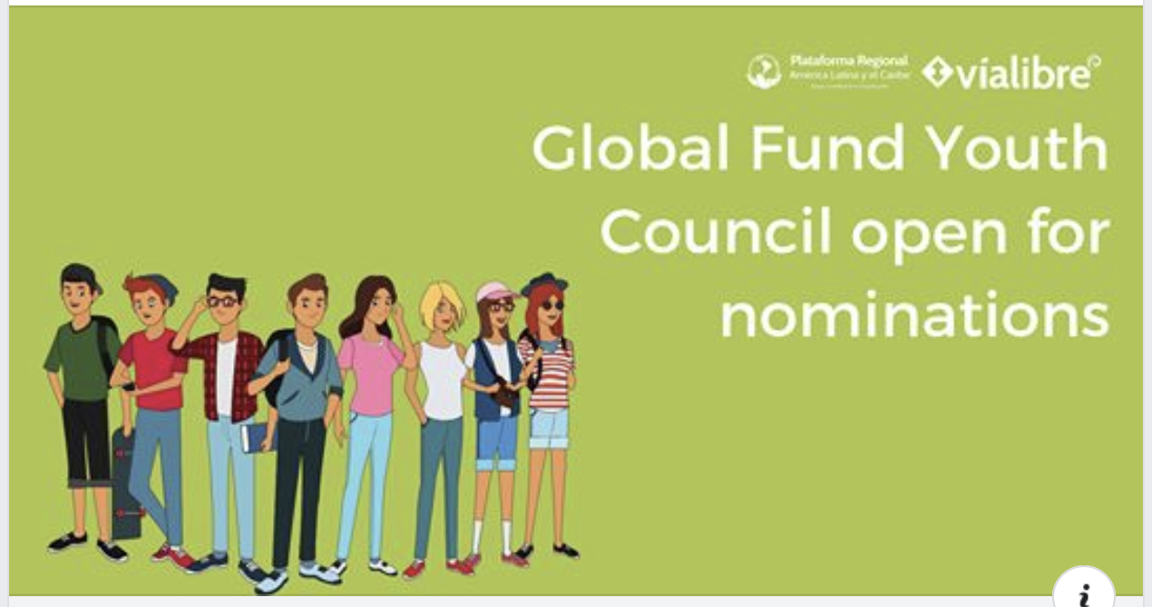 Global Fund Youth Council open for nominations – deadline 31 January.