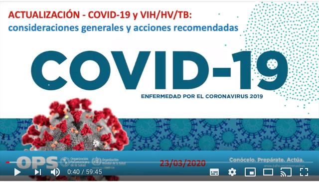 Webinario: COVID19, VIH, Hepatitis y Tuberculosis