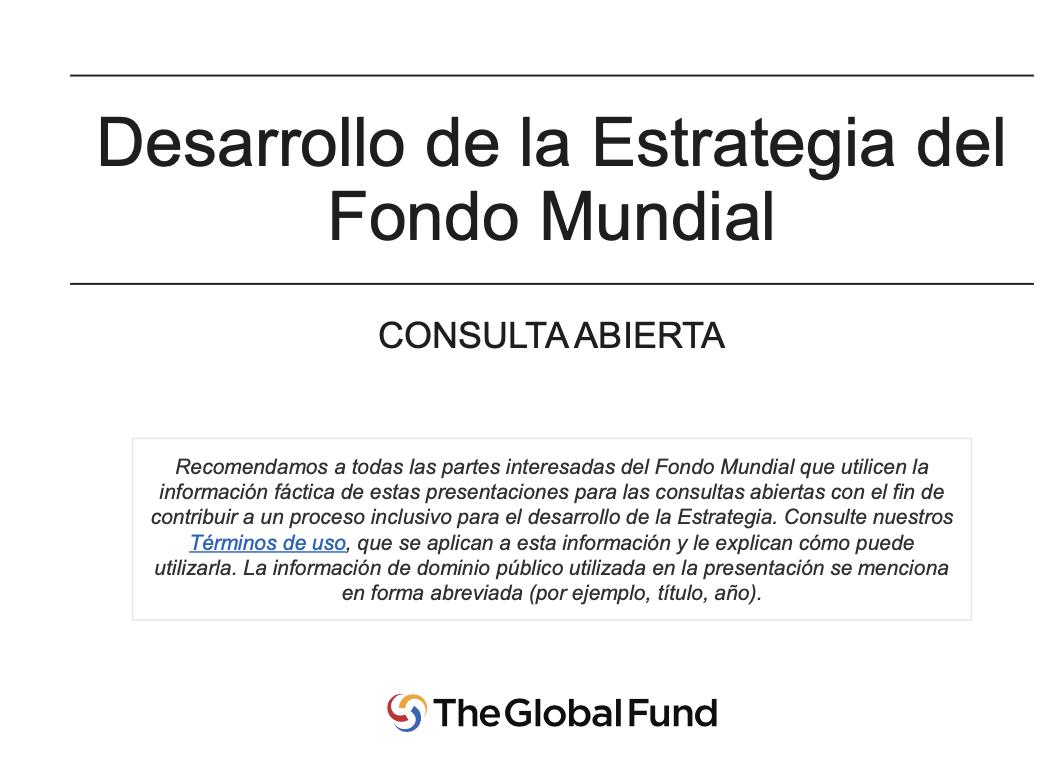 Inicio de la consulta abierta sobre el desarrollo de la Estrategia del Fondo Mundial