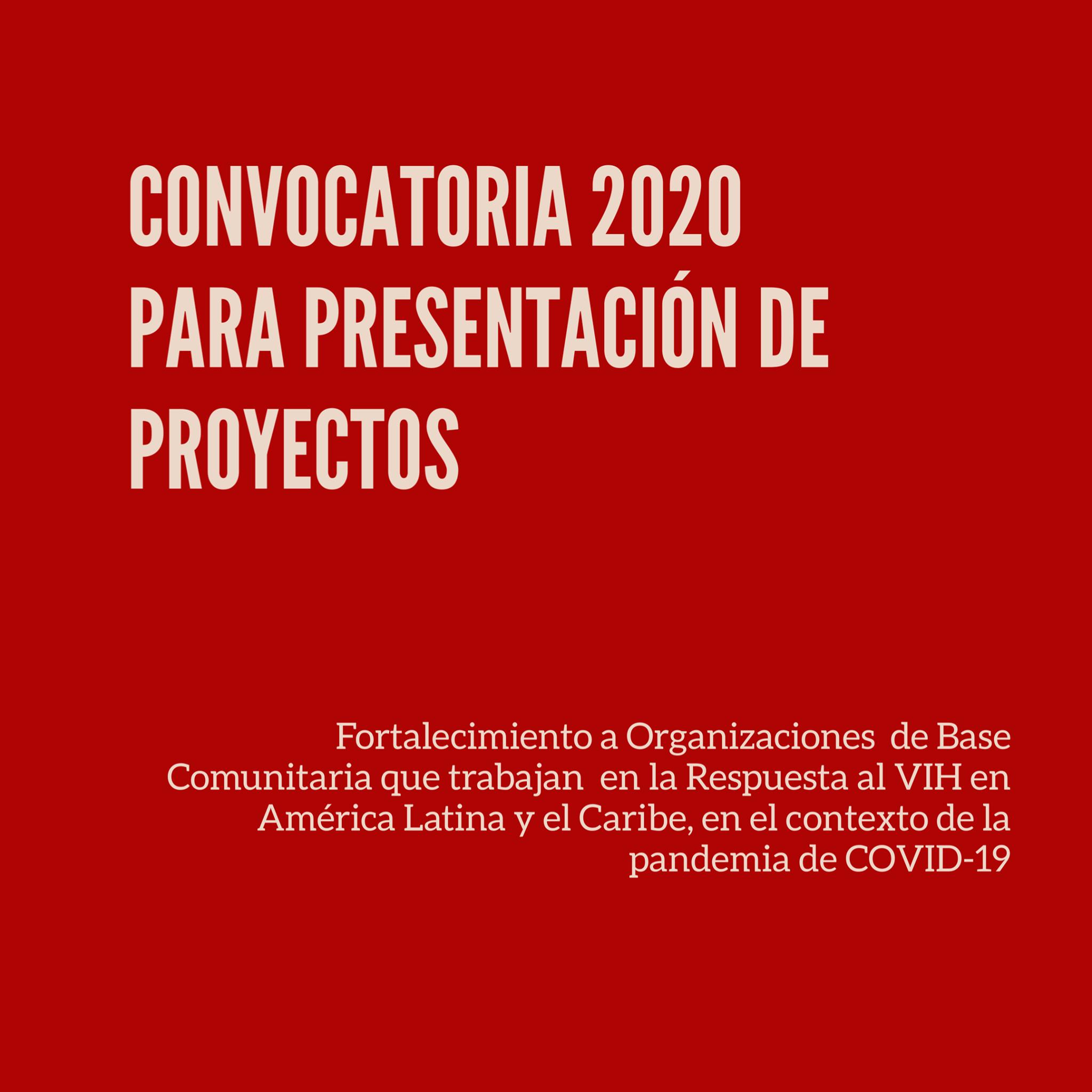 Convocatoria ONUSIDA 2020 para Presentación de Proyectos