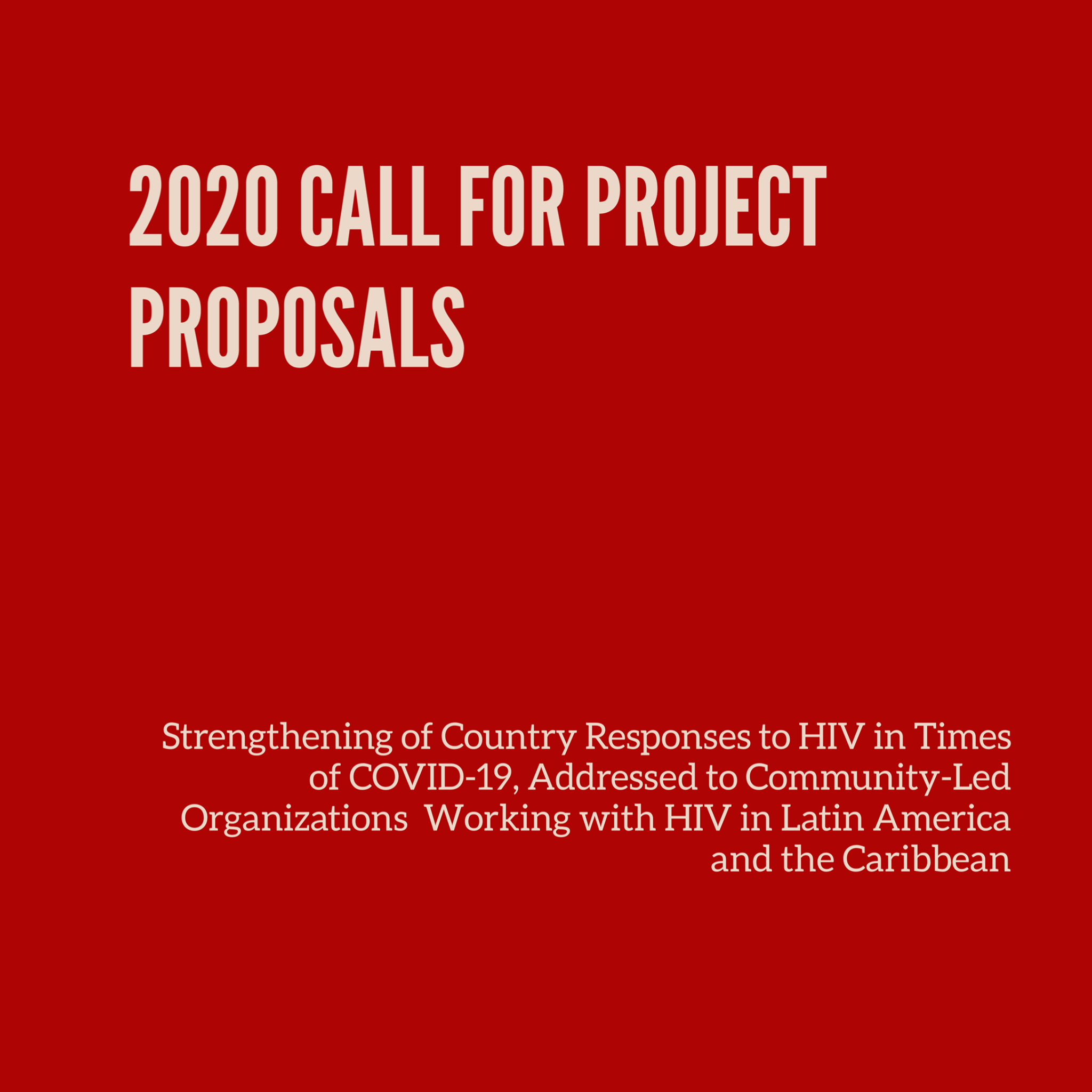 2020 UNAIDS Call for Project Proposals