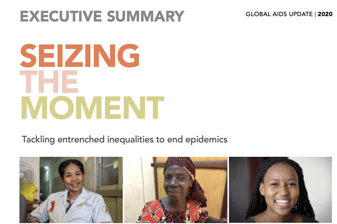 2020 Global AIDS Update — Seizing the moment — Tackling entrenched inequalities to end epidemics