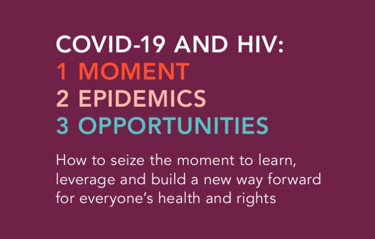 VIH y COVID-19: un momento único en el tiempo para aprender, aprovechar y construir sistemas resilientes para la salud