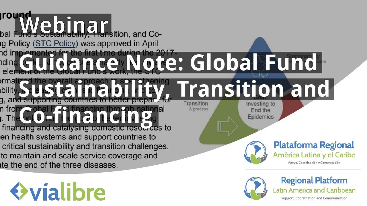 Webinar Guidance Note: Global Fund Sustainability, Transition and Co-Financing