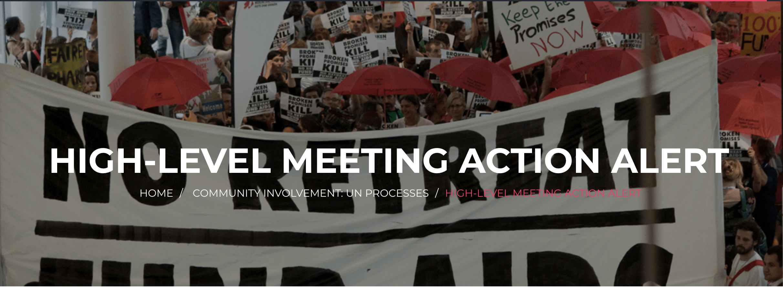 High-level meeting Action Alert