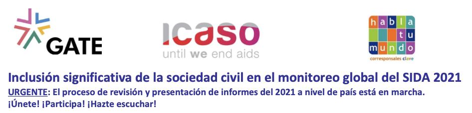 Inclusión significativa de la sociedad civil en el monitoreo global del SIDA 2021